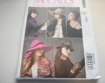 Pattern Ladies Hats 5 Styles and Gloves  MCCalls 6664