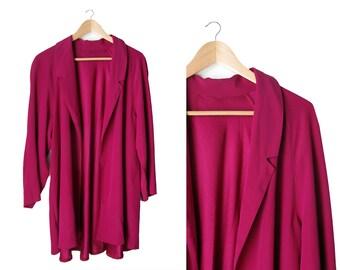 Italian Style Oversized Blazer - Purple pink - 1990