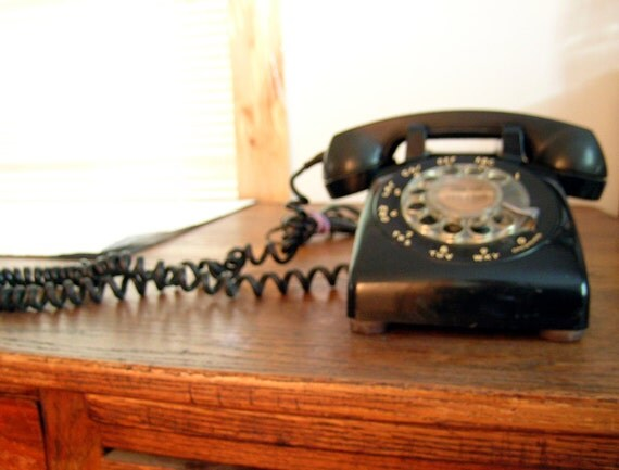 Vintage Black Telephone Fifties Bell System Western Electric