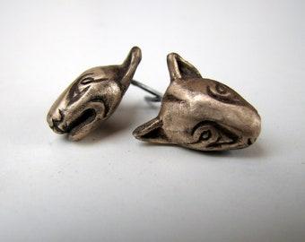 Dog earrings bullterrier
