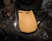 Drawstring pouch (Yellow Elk Leather)