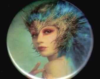 Peacock Dream Button