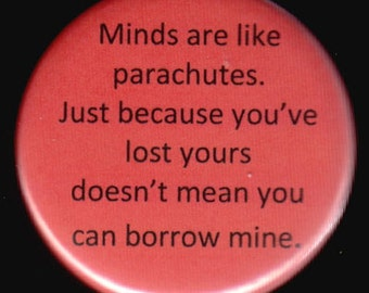 Minds and Parachutes Button