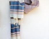 Handwoven Turkish Silk Scarf,Shawl,Wrap,Cowl,Neckwarmer,Table Runner,Navy Blue,Red, Cream, Beige, Ivory