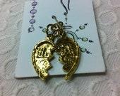 Gold Plated Mizpah Heart Charm