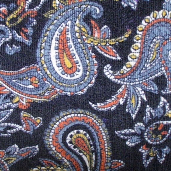 Paisley baby wale corduroy fabric 1 3 4 yards 44 by for Children s corduroy fabric