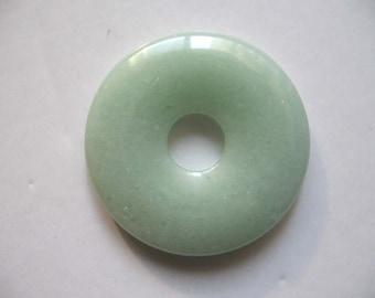 Charming Aventurine Donut Pendant 40mm
