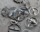 Vintage clock balance wheels without springs -- set of 12 -- D16
