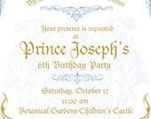 Prince Invitation Set