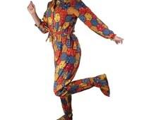 Adult Onsie Pajamas Womens Footed PJs with Drop Seat Flannel Vintage 1970s New Old Stock by Radlee