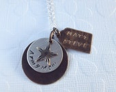 Army Mom Hand Stamped Necklace