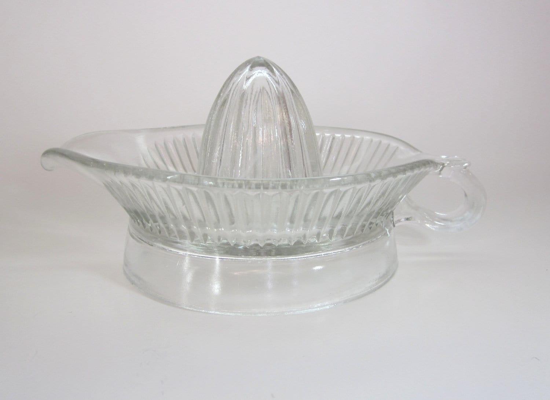Glass Citrus Juicer Electric ~ Vintage glass citrus juicer orange lemon lime reamer with