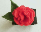 Felted Rose Bracelet/ Cuff