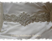 Beaded Rhinestone Crystal Bridal Belt, 25 inch Wedding Dress Sash, Jeweled Wedding Belt, No. 1126S2-1161-25, Wedding Bridal Belts and Sashes
