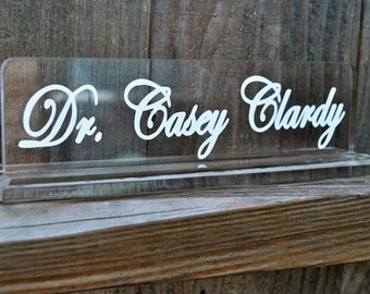 Personalized Acrylic Name Plate