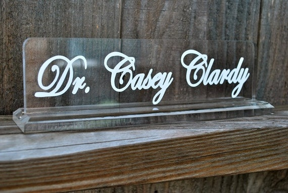 Personalized Acrylic Name Plate By Limetreegifts On Etsy