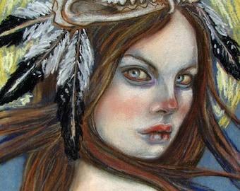 The Witch pagan shaman goddess 8x10 print
