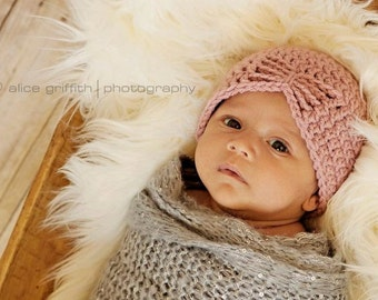 Newborn hat pink newborn crochet hat baby hat crochet beanie newborn photography prop newborn girl hat baby girl hat