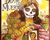 Day of the Dead Poster San Francisco calaca altar marigolds