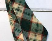 Forest Tartan - Vintage 60's 70's Wool Plaid Necktie