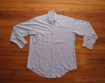 mens vintage all cotton oxford shirt