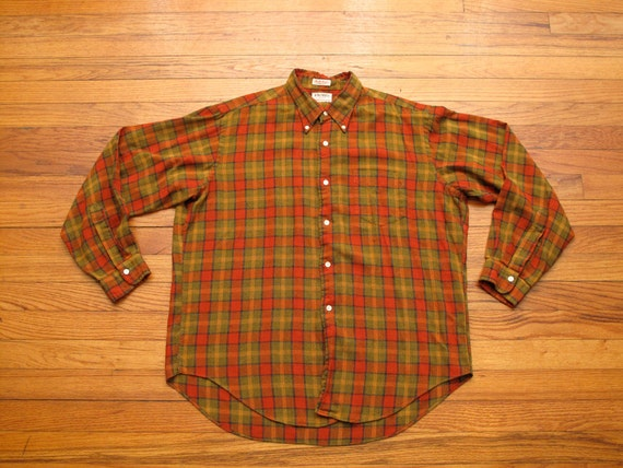 mens vintage gant light weight flannel shirt