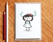 Oh deer -  Christmas Card / Greeting Card