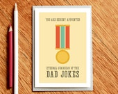 Fathers Day Card - Card for Dad - Guardian of the Dad Jokes - xmas dad card