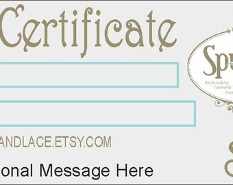 Gift Certificate - GREAT Stocking Stuffer