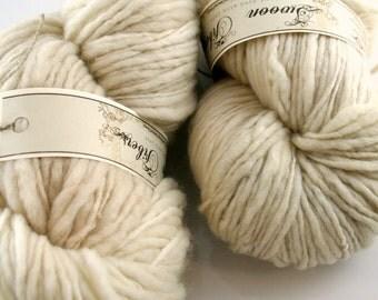 Pre-order Yarn hand dyed hand spun Vanille Merino singles Swoon Fibers