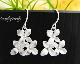 Cherry Blossom Earrings, Flower Earrings, Dangle Earrings, Bridesmaid Jewelry, Bridesmaid Earrings, Drop Earrings, Everyday Jewelry