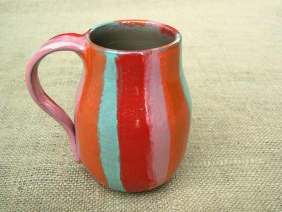 Coffee Mug- Bright Stripes