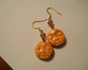 Moon Face Earrings