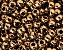 Seed Beads-11/0 Round-221 Bronze-Toho-16 Grams