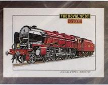The Royal Scot - British Transport Classics - Heritage Classics - Cross Stitch Chart