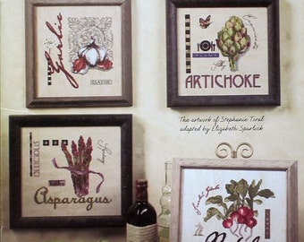 Gourmet Garden of Counted Cross Stitch Designs by Jeanette Crews