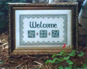 Celtic Welcome - Cross Stitch Chart by Brown House Studio