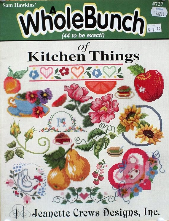 A Whole Bunch of 44 Kitchen Things To Cross Stitch