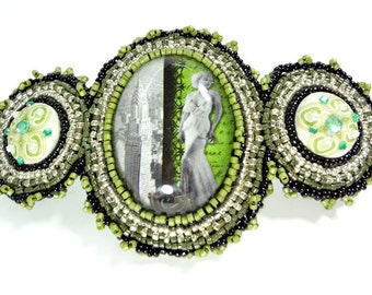 Barrette for Thick Hair - Green - Barrette - 4.5 Inches