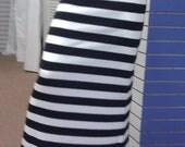 SALE  Horizontal Black and White Stripe Maxi Skirt