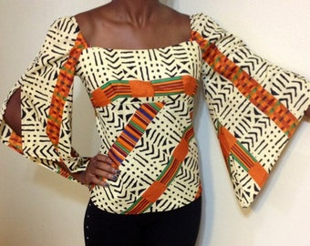 Tribal Ethnic African Top plus size