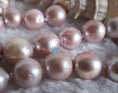 Pearl Necklace - 18 inches 9-11mm Light Purple Chinese Kasumi Freshwater Pearl Necklace - Free shipping