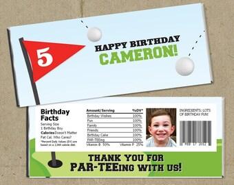 DIY Golf PAR-TEE Birthday Party Candy Bar Wrappers - Digital U Print
