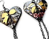 Teen Girl Jewelry Recycled Soda Can Teen Girl Gift Heart Earrings Rockstar Energy FLASH SALE Jewelry Trending Now R2050