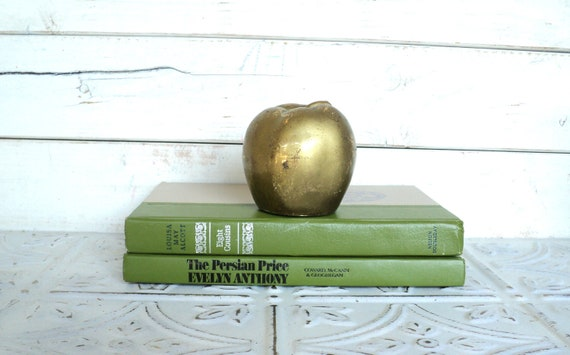 Avocado Green Books Instant Library Collection Decorative Books Photography Props
