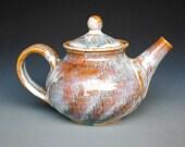 Personal Teapot Swirled Glaze