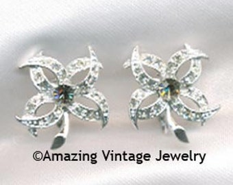 Sarah Coventry EVENING STAR Earrings - 1966  SALE 8.00