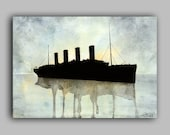 "Titanic Watercolour Ships series, Print 8"" x 11.5"" (A4) - Paint the Moment"