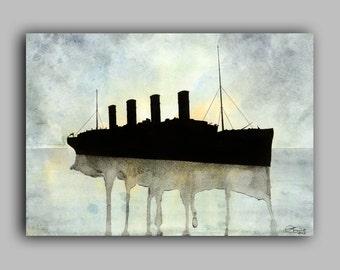 "Titanic Watercolour, Ships series, Print 5"" x 7"" - Paint the Moment"