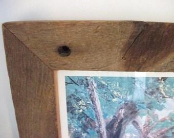 Vintage Barnwood Picture Frame